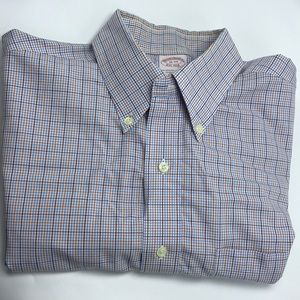 Brooks Brothers 16-34 Plaid Button Front Shirt
